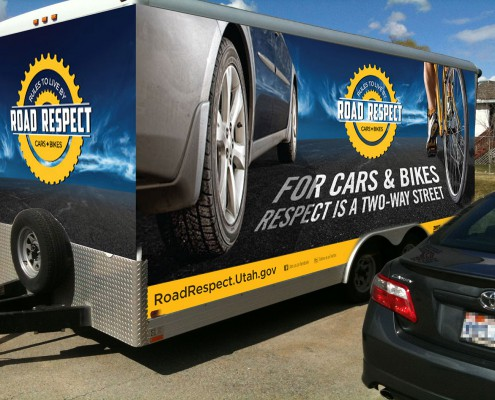 Traffic Safety Marketing Example - Bicycle Safety Trailer Wrap