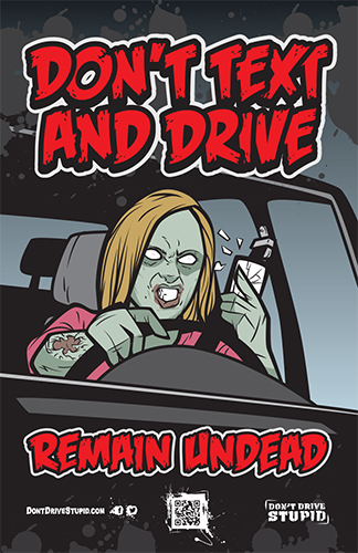 Traffic Safety Education Marketing Example – Haunted House Parking Lot Sign
